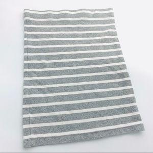GAP Cotton Pencil Skirt Grey White Nautical stripe